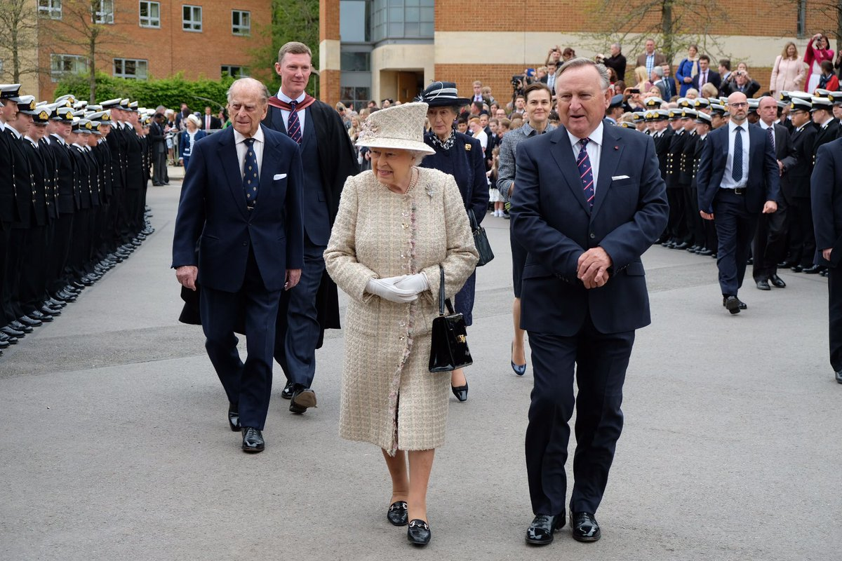 The Queen and Prince Philip visited Pangbourne College today to celebrate its centenary (Royal Family)