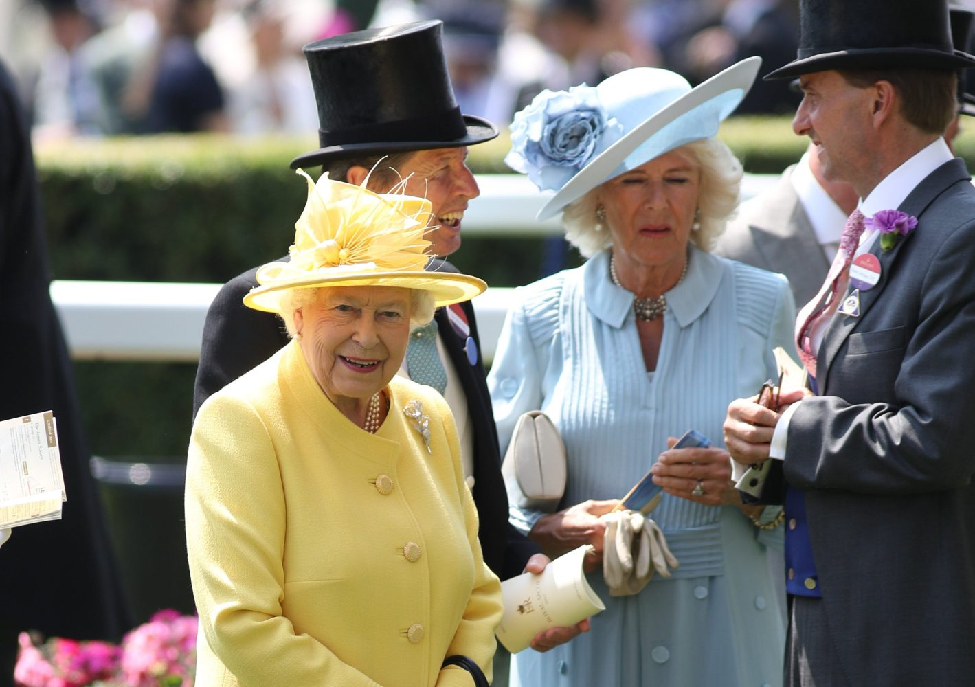 The Queen and Camilla enjoying day two of Royal Ascot (Picture by Stephen Lock / i-Images)