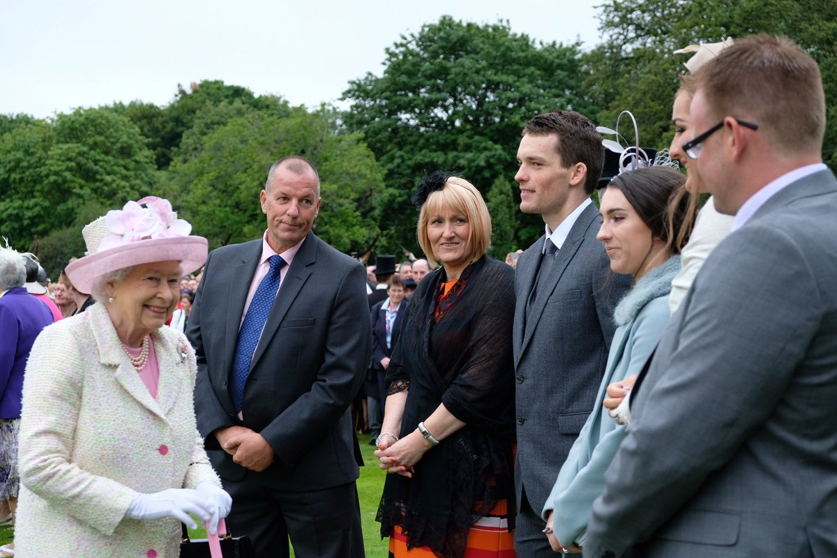 The Queen and Prince Philip hosted a garden party at the Palace of Holyroodhouse today (Royal Family)