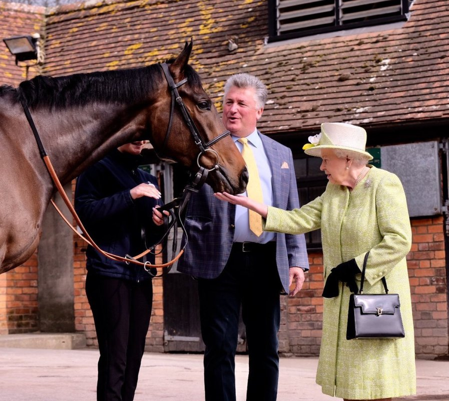 the queen visits manor farm stables in somerset (royal family)