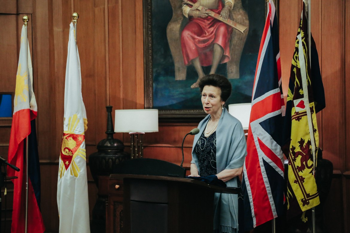 Princess Anne works with Save the Children (UK in Phillipines)