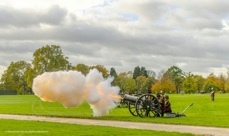 A gun salute in St James's Park