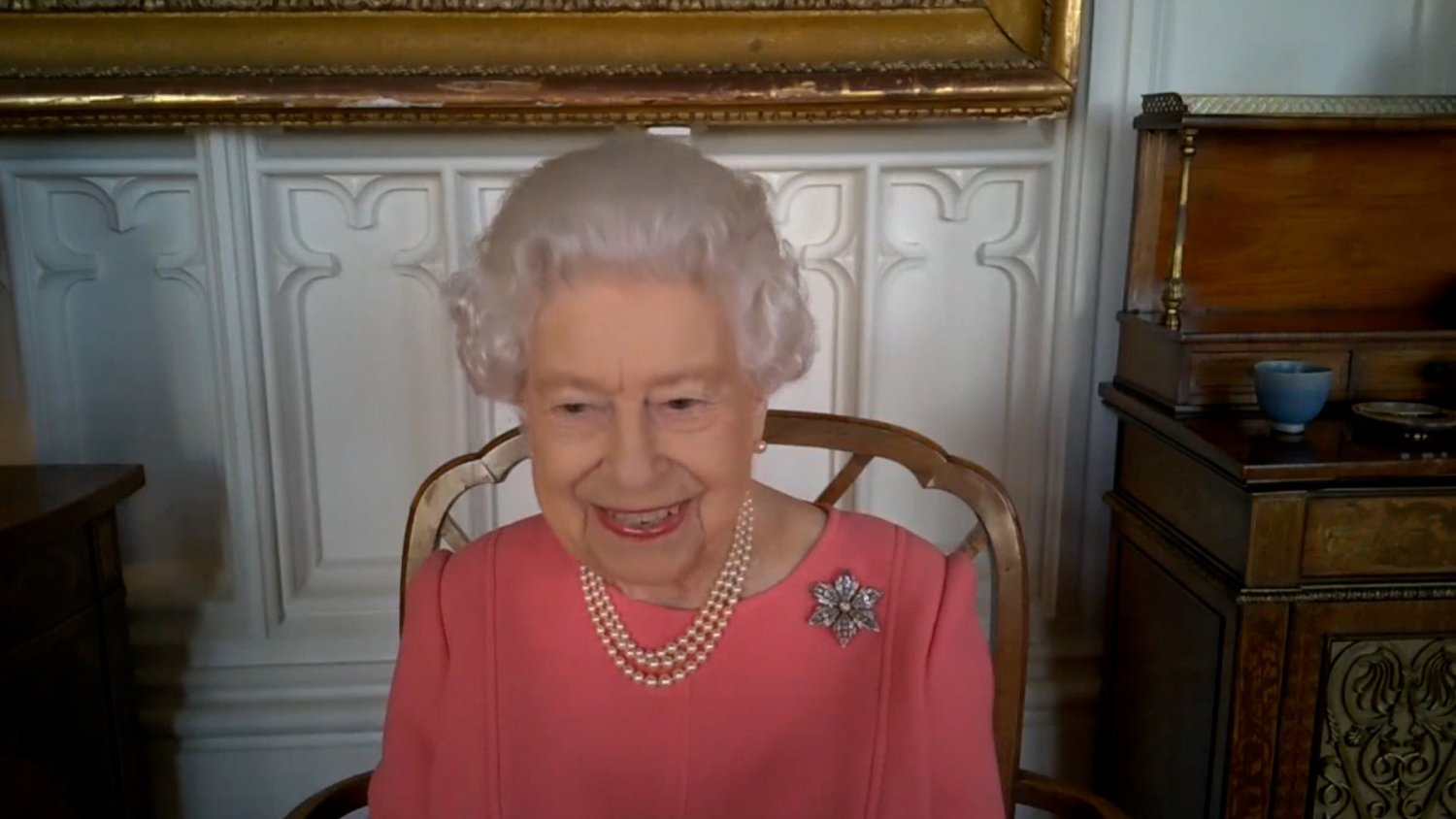 The Queen encouraged people to have the Covid-19 vaccine, saying hers 'didn't hurt at all' (Buckingham Palace)