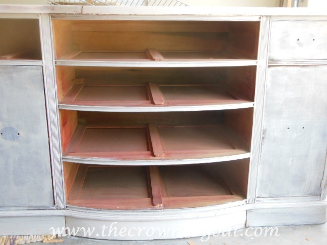 060414-51 Buffet to China Hutch Base Part 2 Painted Furniture