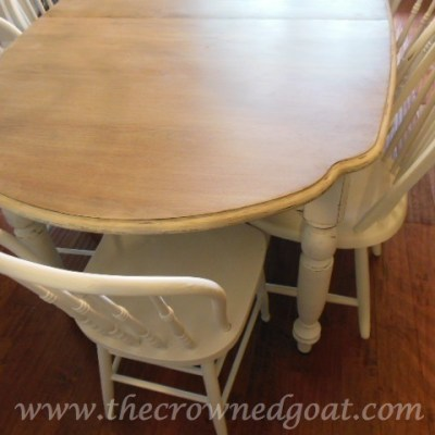 Adding an Aged Look to the Dining Room Table
