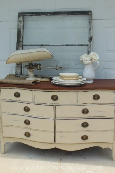 Old Ochre Dresser Makeover