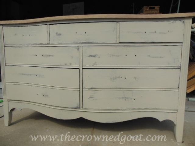 062514-7 Old Ochre Dresser Makeover Painted Furniture