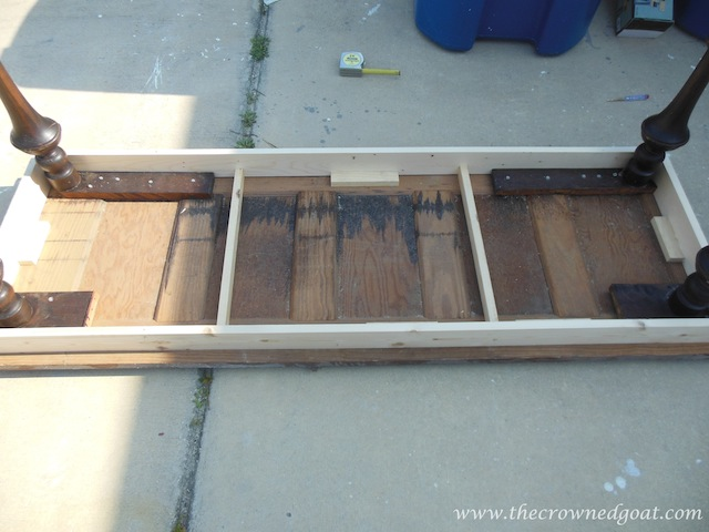 032414-5 Building a Console Table From an Old Door Painted Furniture