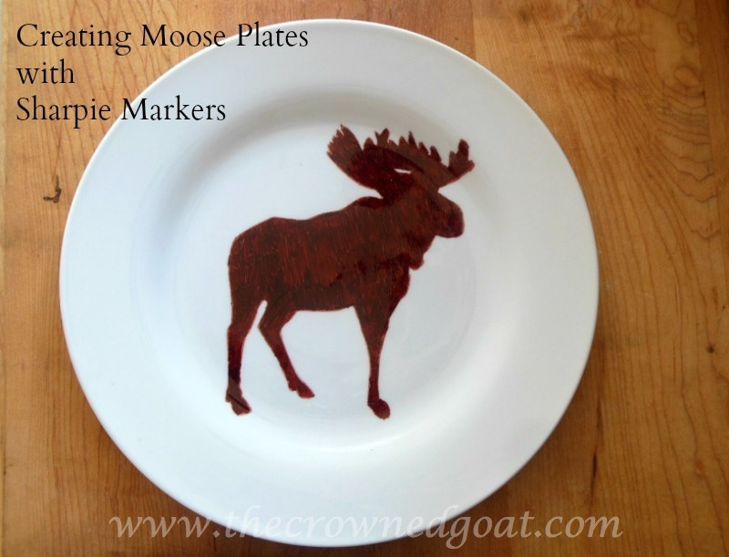010715-7-Creating-Plates-with-Sharpie-Markers-Graphic Creating Moose Plates with Sharpie Markers Crafts