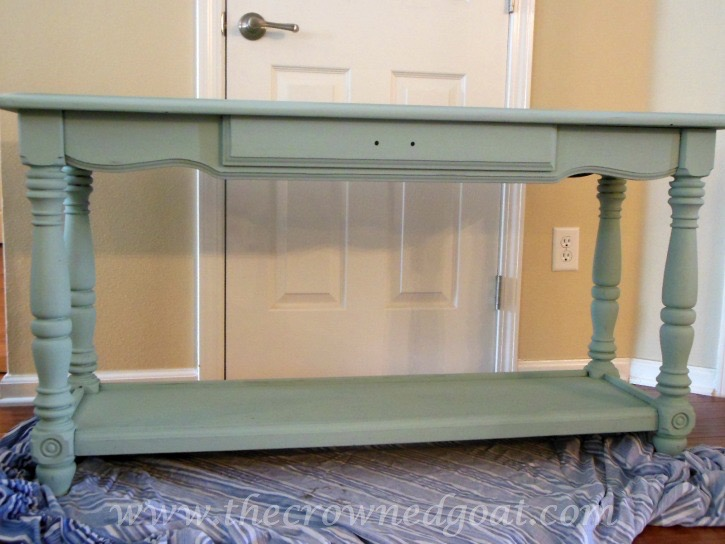011515-4 ASCP Console Table in Duck Egg Painted Furniture