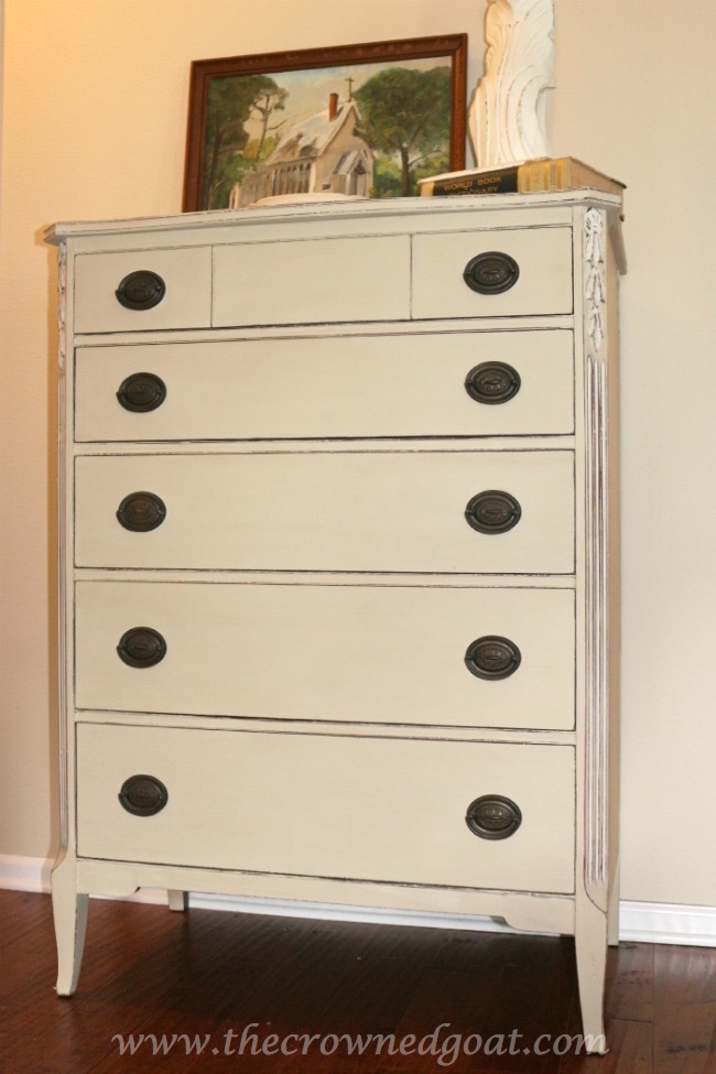 012115-16 Annie Sloan Chalk Painted Dresser in Country Grey