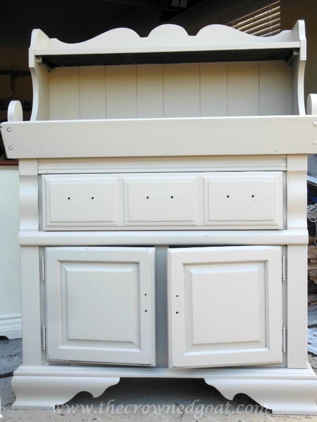 022415-3 Dry Sink Painted in Lambs Wool Painted Furniture