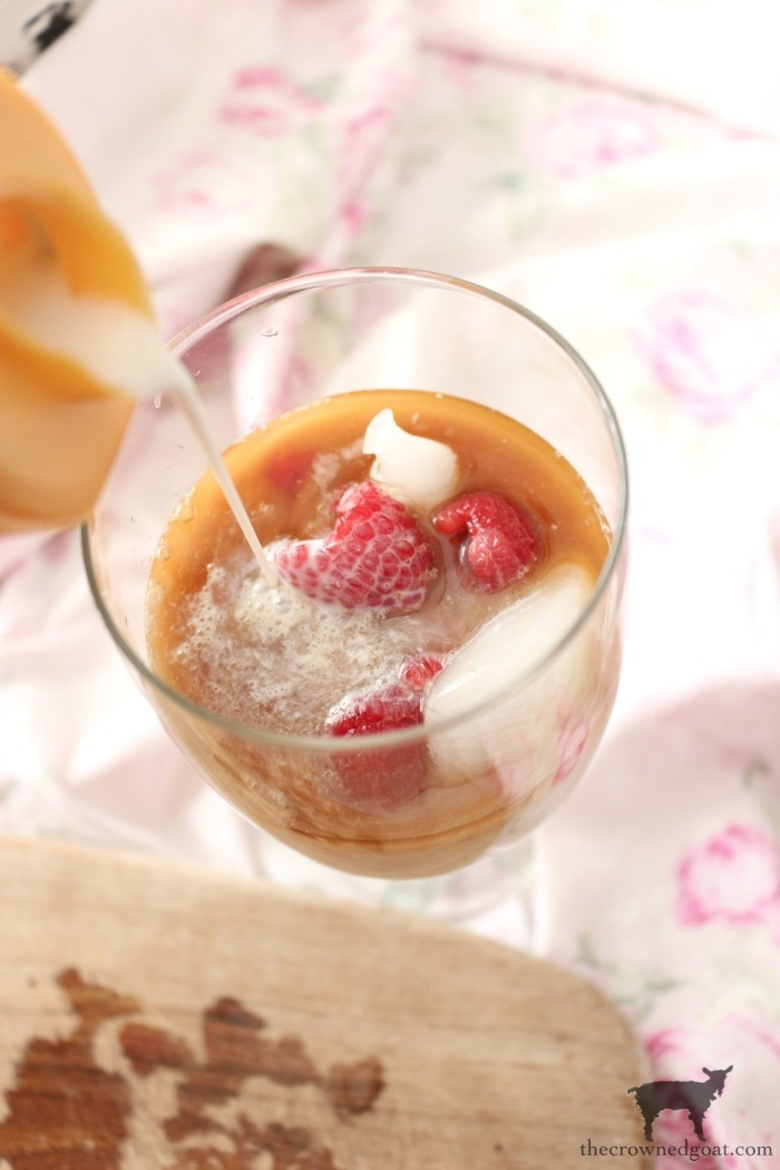 Raspberry-Iced-Coffee-The-Crowned-Goat-10 Raspberry Iced Coffee Holidays Valentines
