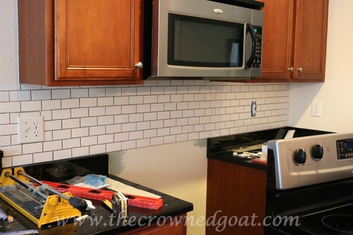 030415-2 Kitchen Diaries: Subway Tile Backsplash Grout Day 2 DIY