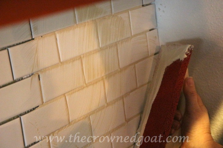 030415-6 Kitchen Diaries: Subway Tile Backsplash Grout Day 2 DIY