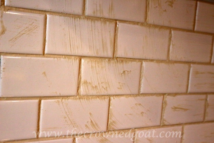 030415-7 Kitchen Diaries: Subway Tile Backsplash Grout Day 2 DIY