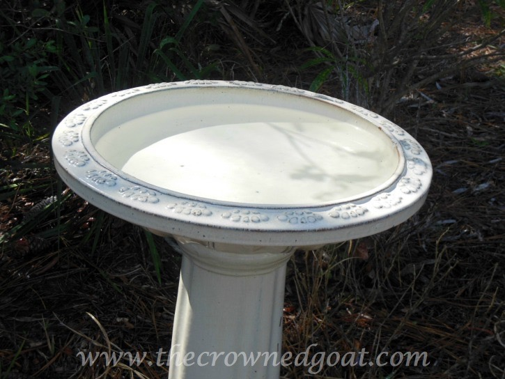 031115-7 How to Clean a Ceramic Glazed Birdbath DIY
