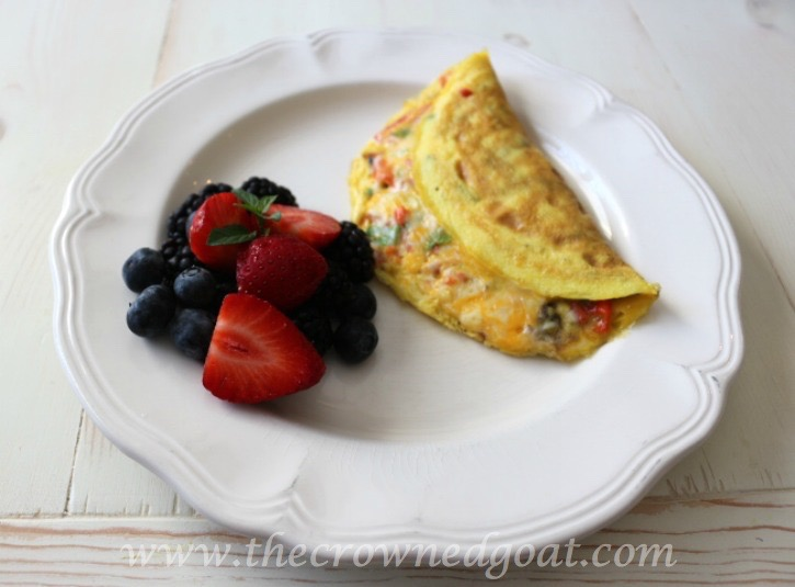 032015-5-Easy-Veggie-and-Herb-Omelet-The-Crowned-Goat Easy to Make Veggie & Herb Omelet Baking