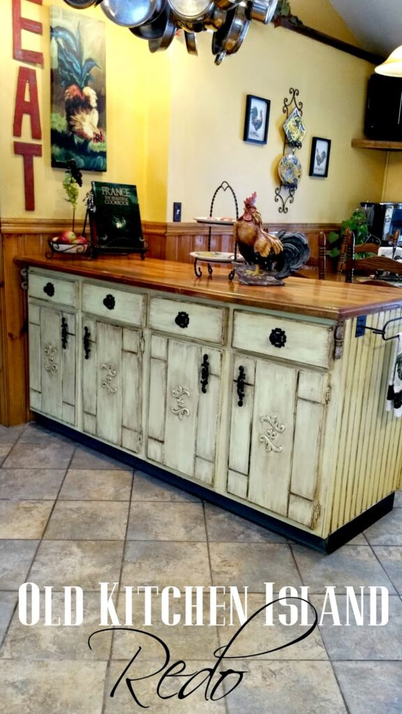 Redo-it-yourself-inspiration-Old-Kitchen-Island-Redo-576x1024 Something to Talk About Link Party #9 LinkParty