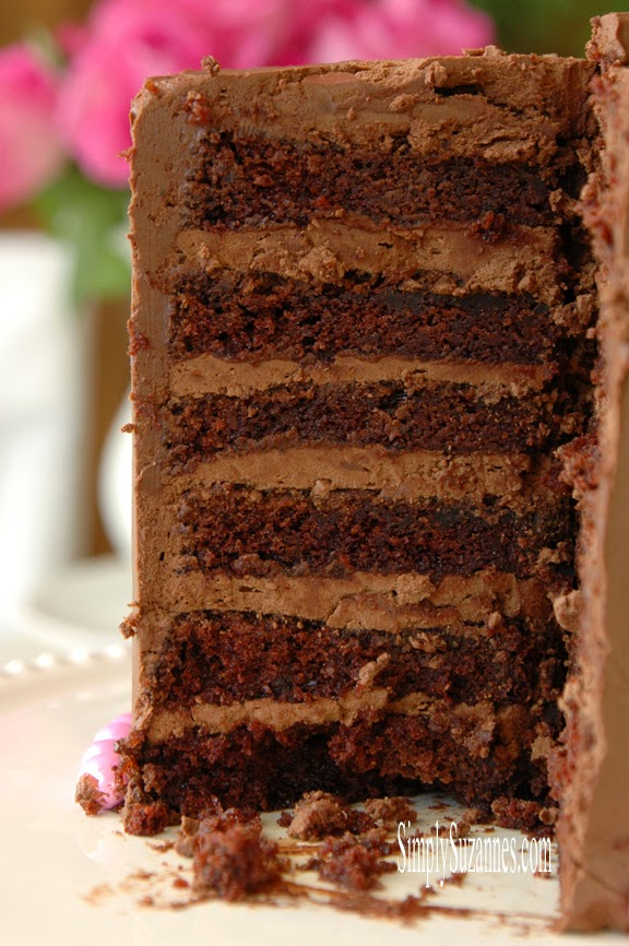 Simply Suzanne's chocolate cake