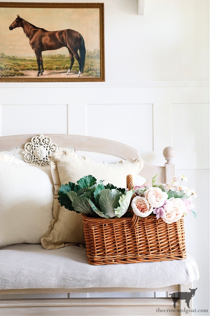 Spring-Home-Tour-Entry-The-Crowned-Goat Spring Flowers Home Tour Decorating Holidays Spring