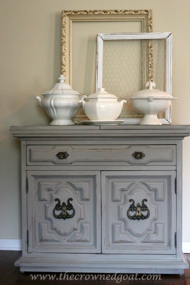 Painted Buffet In Annie Sloan Chalk Paint French Linen