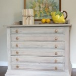 Annie Sloan Chalk Painted 3-Drawer Nightstand in Country Grey