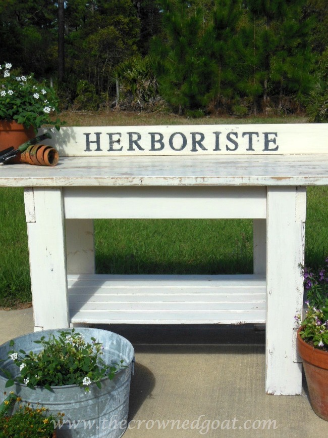 041015-17 Herboriste Potting Bench - The Crowned Goat