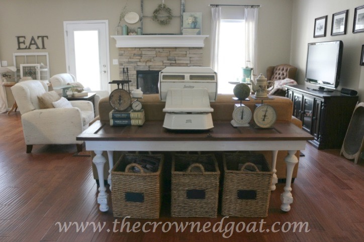 041615-12 How to Create a Console Table from an Old Door DIY Painted Furniture