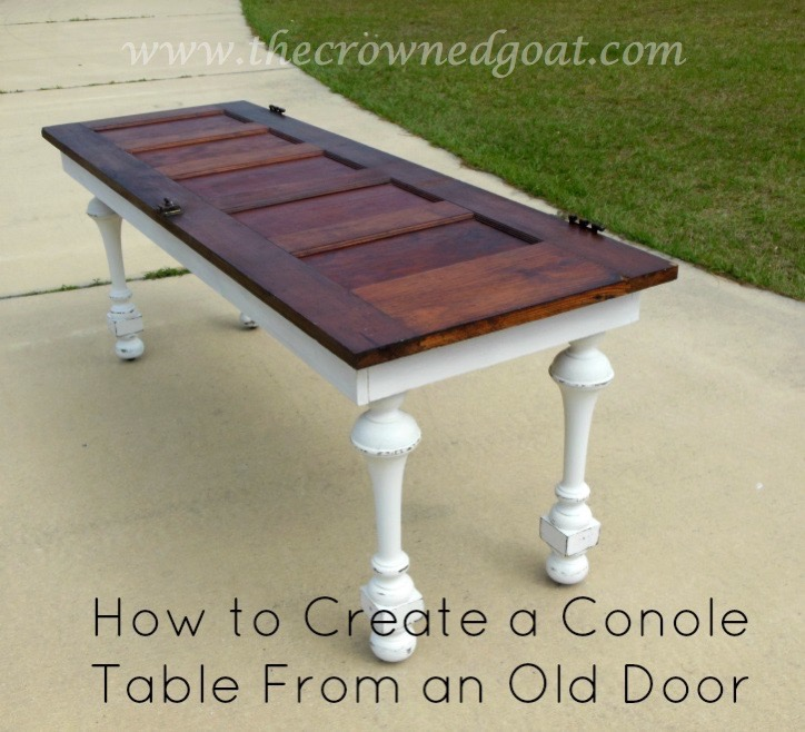 041615-9-How-to-Create-a-Console-Table-From-an-Old-Door How to Create a Console Table from an Old Door DIY Painted Furniture