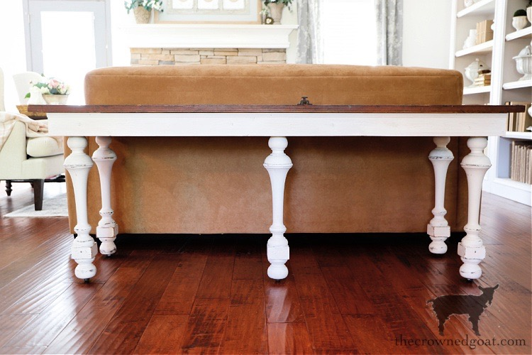 Creating-a-Console-Table-from-an-Antique-Door-The-Crowned-Goat How to Create a Console Table from an Old Door DIY Painted Furniture