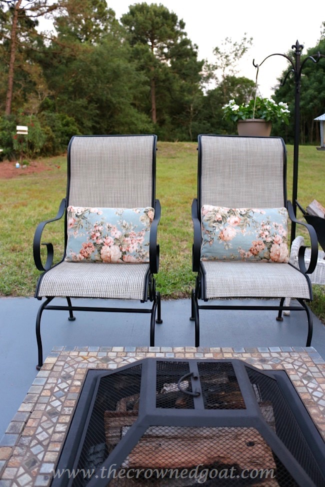 Firepit-Seating-The-Crowned-Goat-050815-5 Backyard Patio Makeover Reveal Decorating DIY
