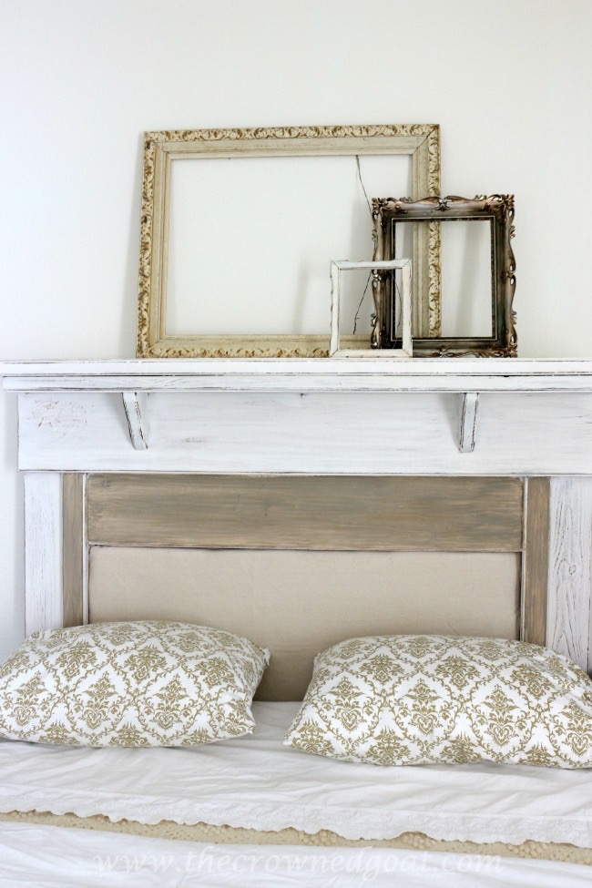 How-to-Make-a-Headboard-from-an-Old-Mantel-The-Crowned-Goat-062515-13 How to Make a Headboard From an Old Mantel DIY