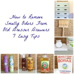 How-to-Remove-Smelly-Odors-From-Old-Dreser-Drawers-The-Crowned-Goat Painted Furniture
