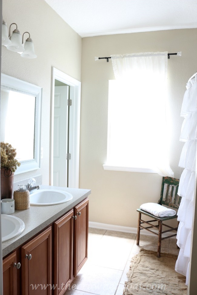 Neutrals-Inspired-Bathroom-Makeover-The-Crowned-Goat-062415-15 Bathroom Makeover Reveal Decorating