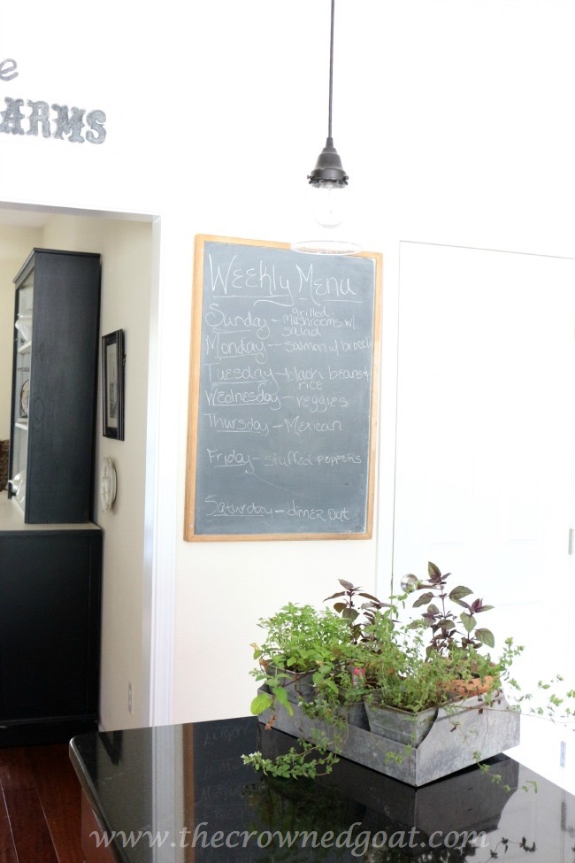 Vintage-Chalkboard-Menu-Board-The-Crowned-Goat-061615-7 Simple Kitchen Updates   Decorating