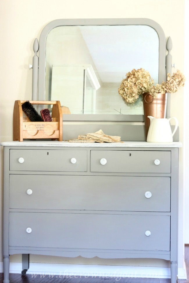 Annie-Sloan-Chalk-Paint-French-Linen-Painted-Dresser-The-Crowned-Goat-072215-10 French Linen Painted Dresser Painted Furniture