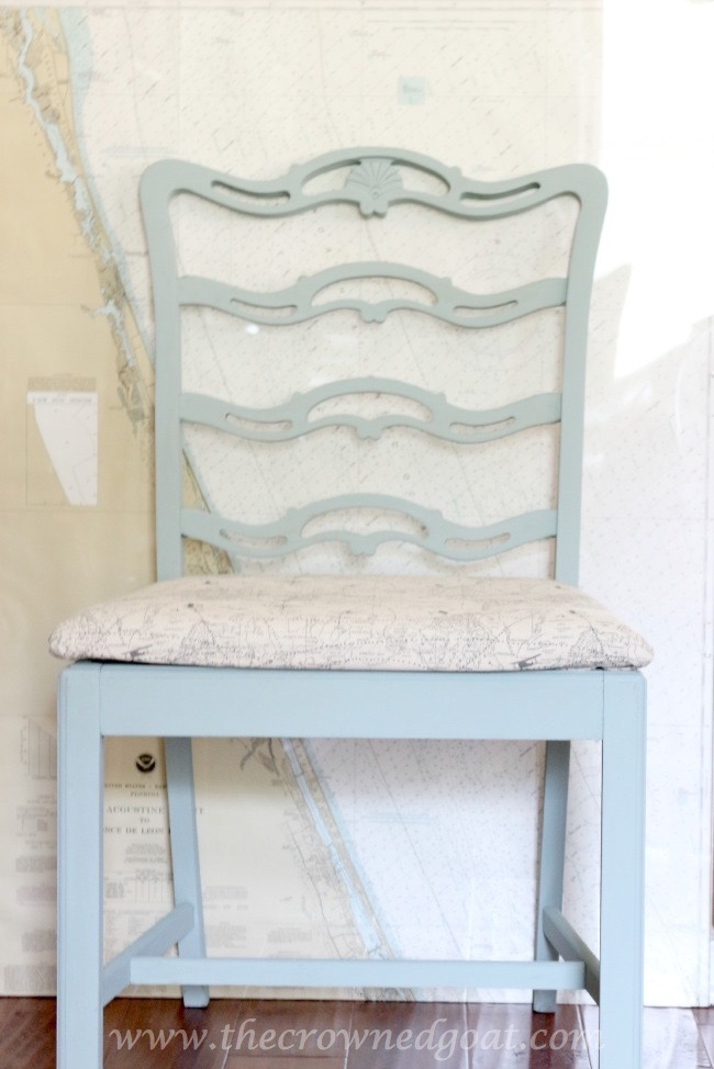 Coastal-Inspired-Chair-Makeover-The-Crowned-Goat-070715-7 Coastal Inspired Chair Makeover DIY Painted Furniture