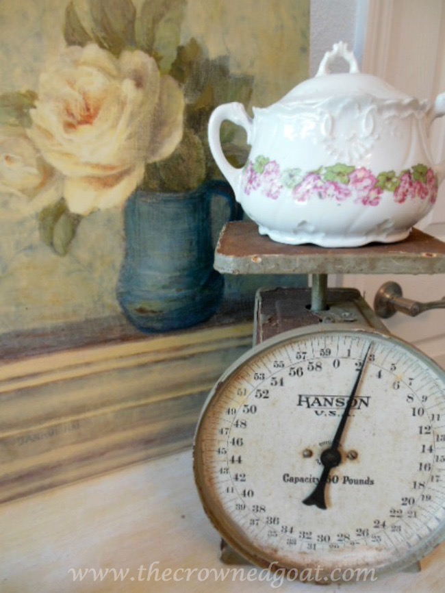 Incorporating-a-Vintage-Scale-with-Bedroom-Accessories-The-Crowned-Goat-071515-7 Shabby Chic Inspired Bedroom Decorating