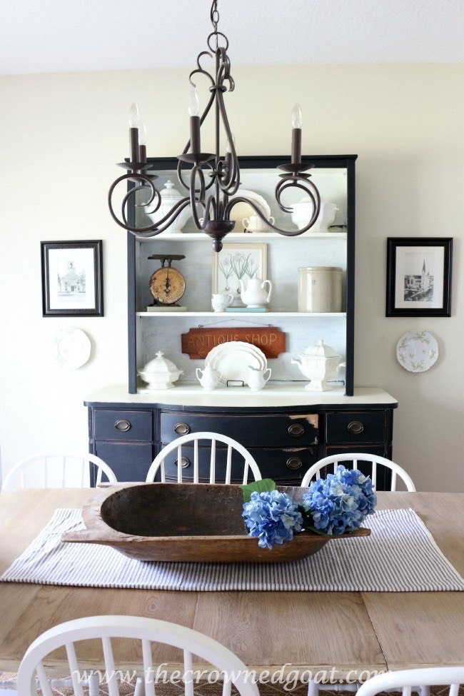 Using-Vintage-Finds-to-Style-a-China-Hutch-The-Crowned-Goat-70915-1 Dining Room Refresh Decorating