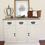 Old White and French Linen Painted Buffet