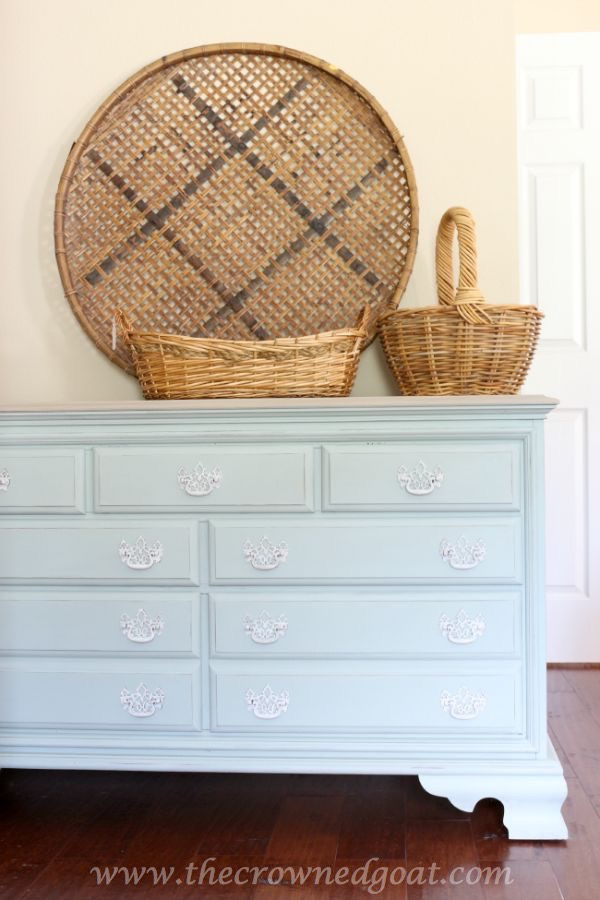 Duck-Egg-and-Driftwood-Inspired-Dresser-The-Crowned-Goat-081315-17 Duck Egg Painted Dresser Painted Furniture