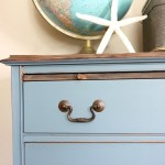 Coastal Blue and Weathered Inspired Dresser Makeover