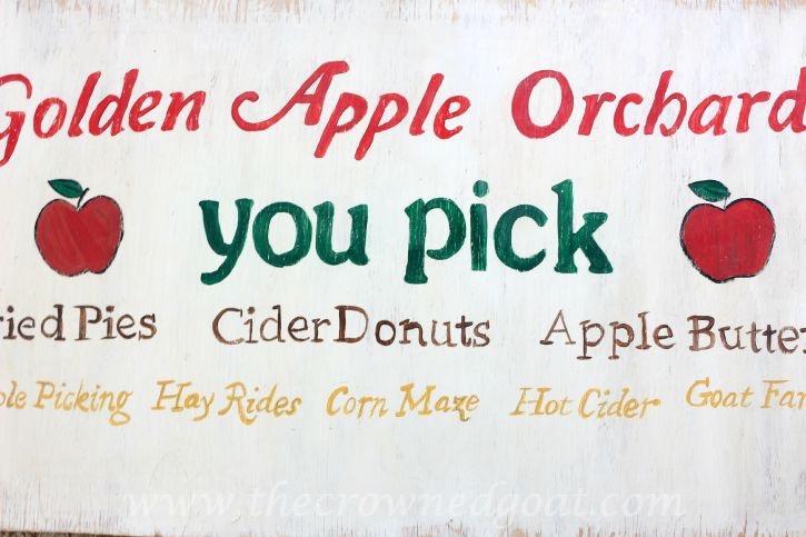 091015-12 Creating a Vintage Inspired Apple Picking Sign Crafts DIY