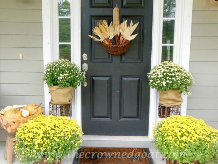 Fall-Porch-with-Mums-Corn-and-Pumpkins-090315-9 10 Ways to Ease Into Fall Holidays