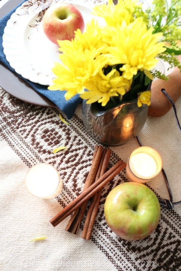 Autumn-Apple-Inspired-Tablescape-100815-21 Autumn Apples Inspired Home Tour Decorating