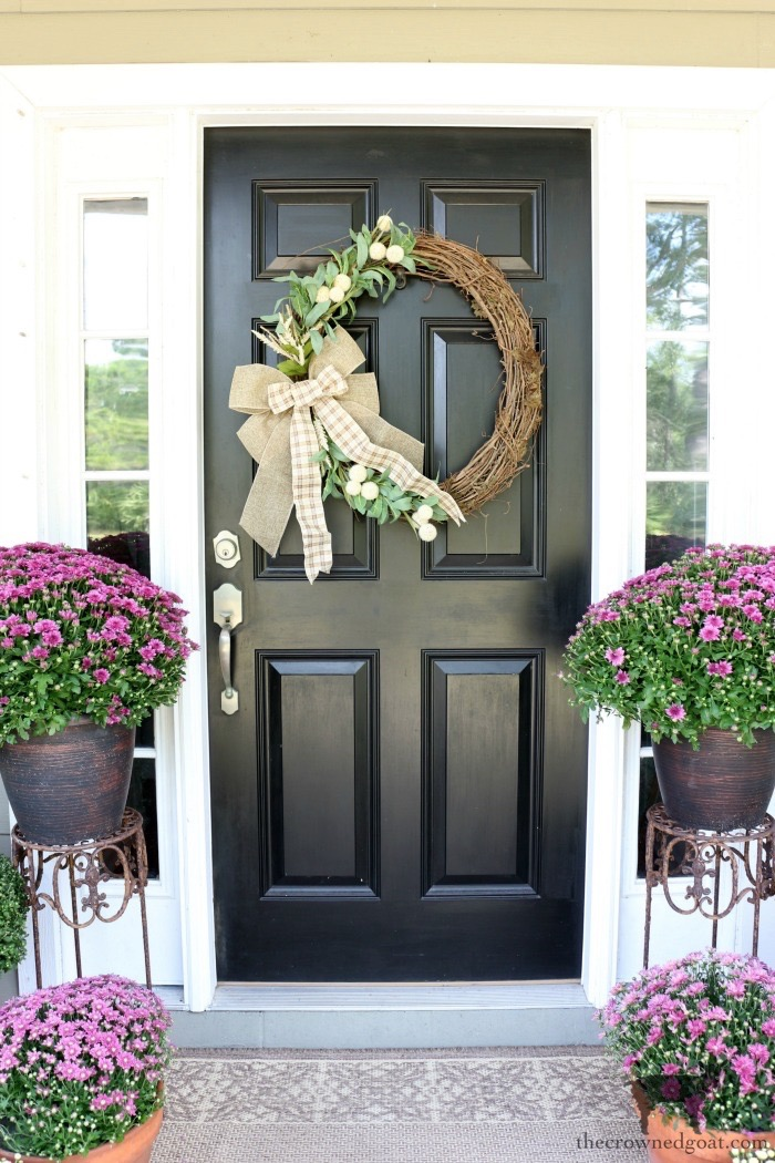 Fall-Grapevine-Wreath-The-Crowned-Goat-16 Fall Inspired Front Door Décor Fall Holidays