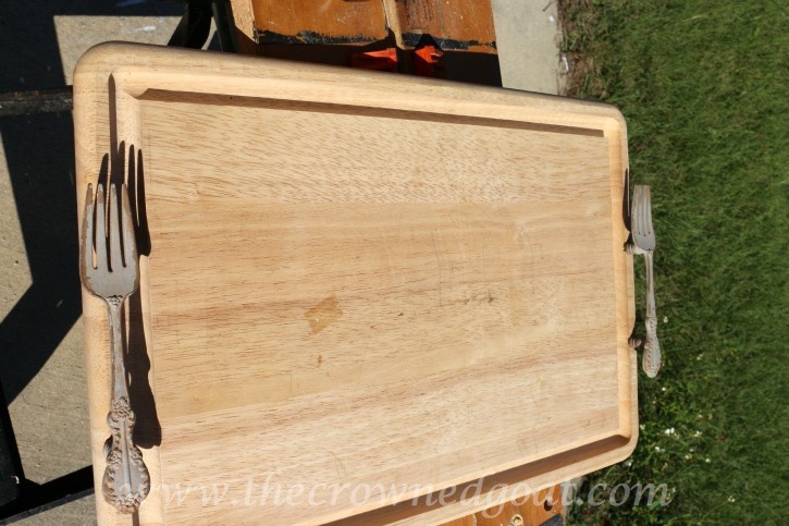 121615-11 How to Make a Serving Tray From a Breadboard Crafts DIY