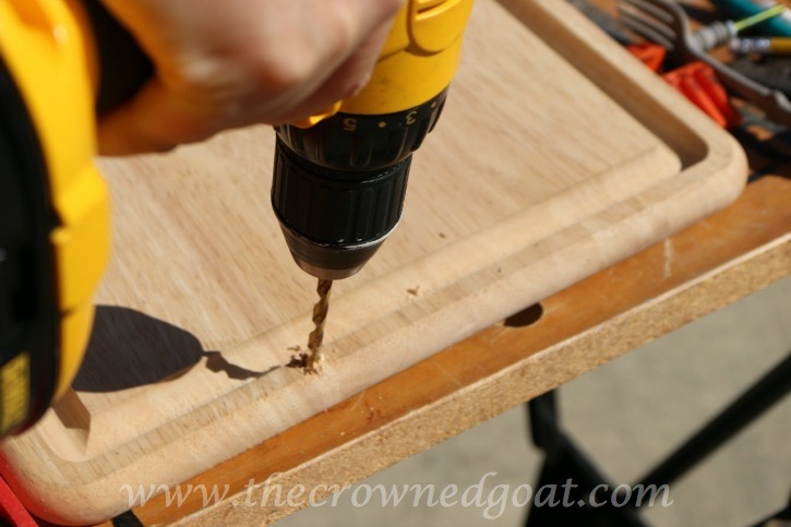121615-4 How to Make a Serving Tray From a Breadboard Crafts DIY