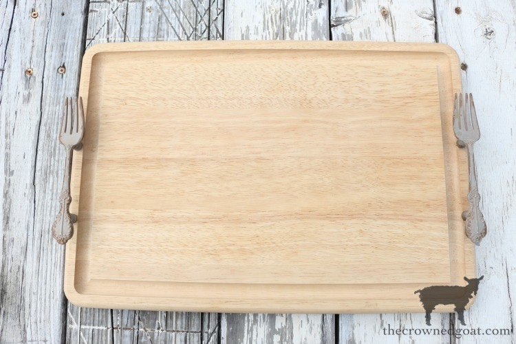 How-to-Make-a-Serving-Tray-From-a-Breadboard-The-Crowned-Goat-1 How to Make a Serving Tray From a Breadboard Crafts DIY Summer